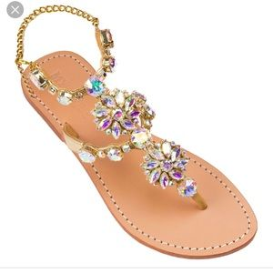 Lily vanity sandals with crystals